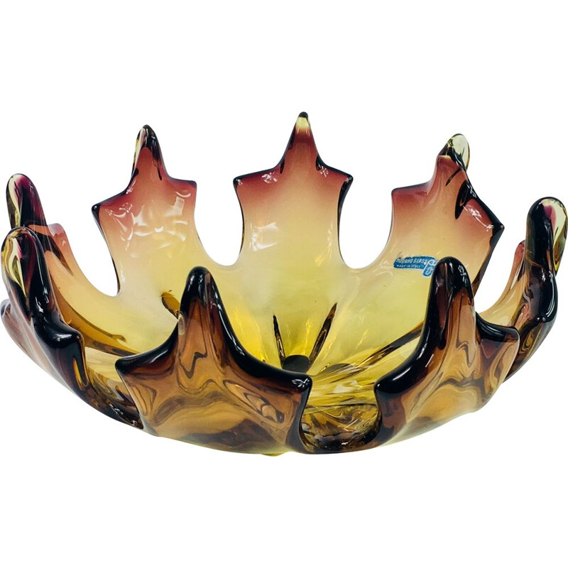 Vintage Flamed Centerpiece from Made Murano Glass Italy 1960s