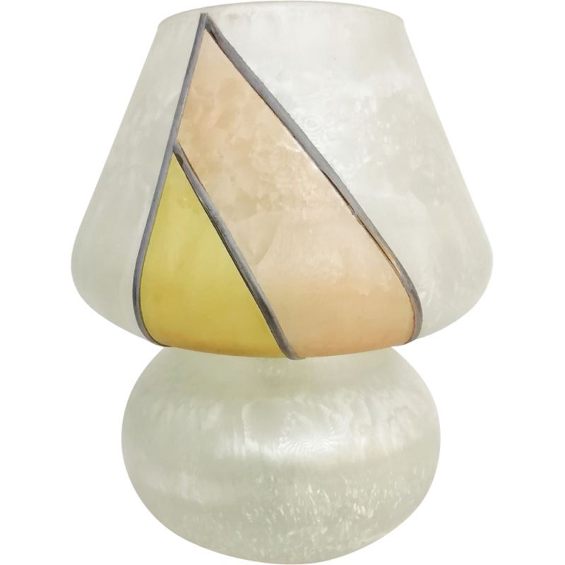 Vintage Painted glass table lamp