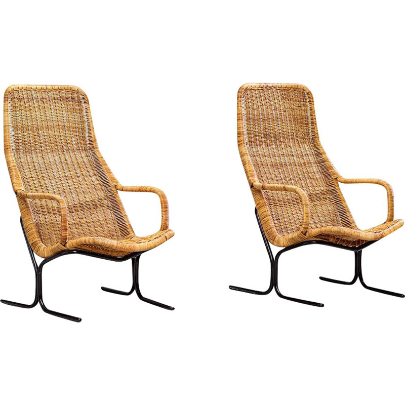 Pair of lounge chairs by Dirk van Sliedregt 1960