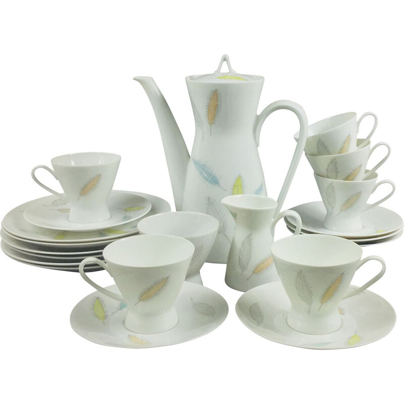 Vintage Coffee Set Model 2000 by R. Latham & R. Loewy for Rosenthal, 1950s
