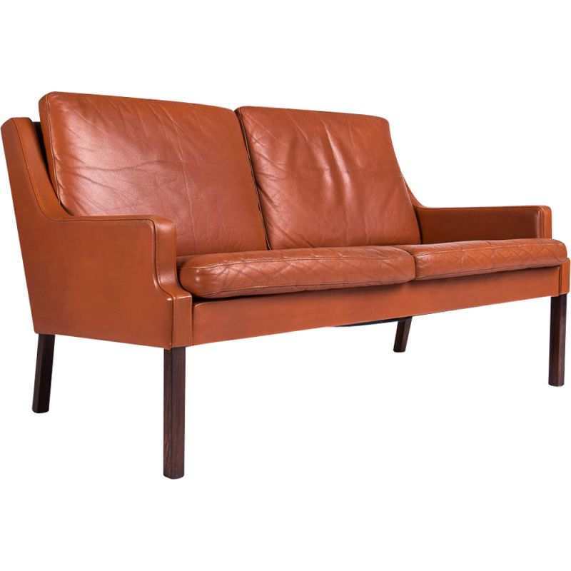 Vintage Sofa in Leather by Rud Thygesen For Georg Thams, Danish 1960s