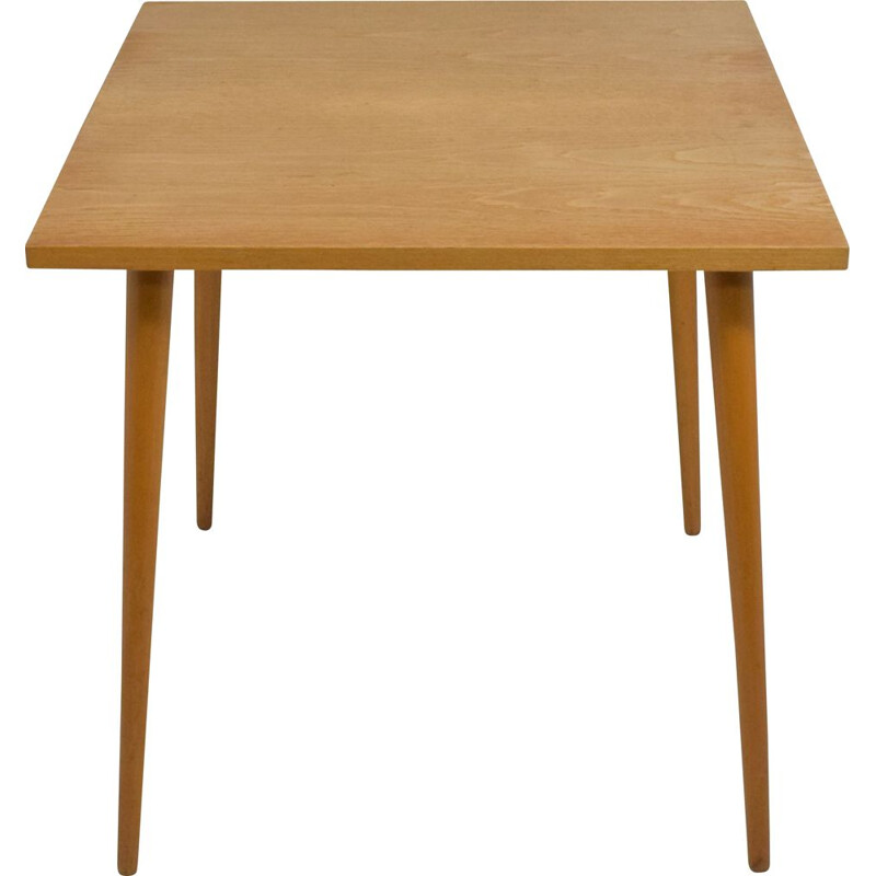 Vintage square wooden table by Otto Bretschneider K.G.1950