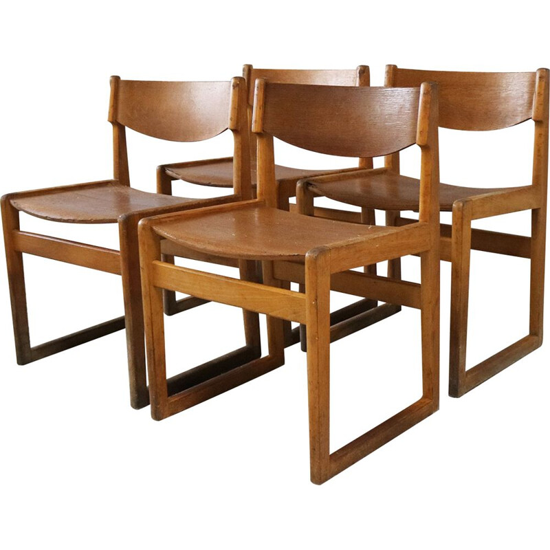 Set of 4 mid century chairs by Kvetny & Sønners Danish