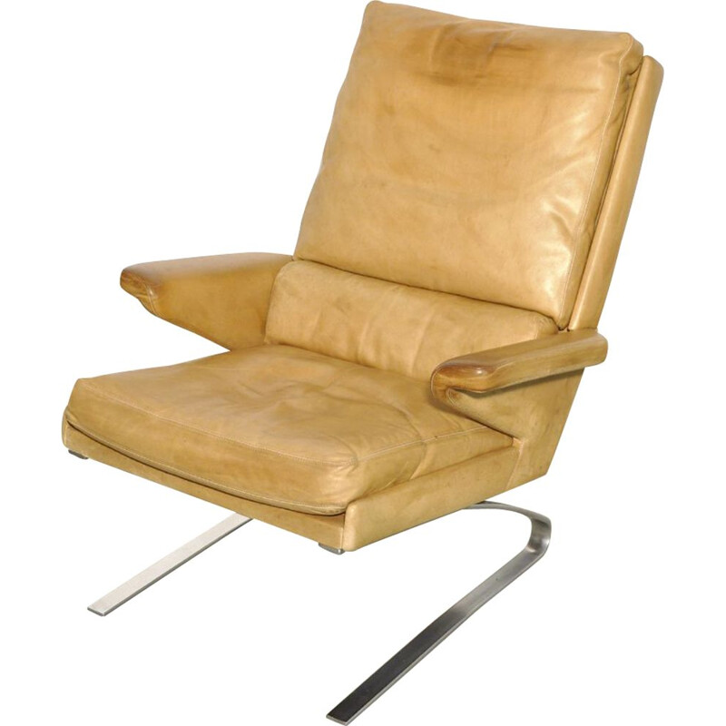 Vintage Leather swing chair by Reinhold Adolf & Hans Jürgen Schröpfer for COR Sitzmöbel, Germany 1960s