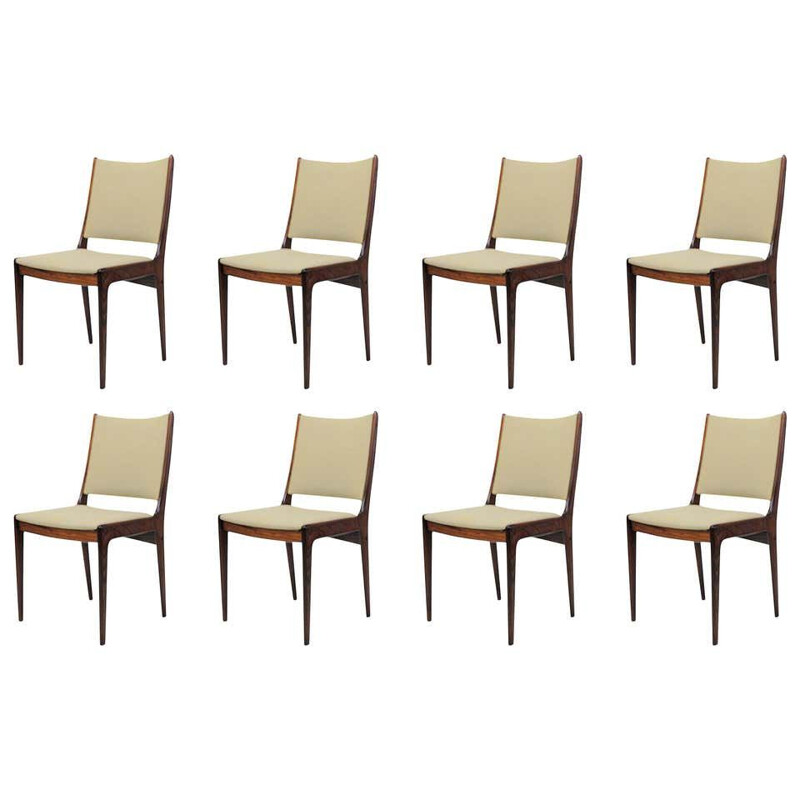 Vintage Dining Chairs Rosewood Inc. Reupholstery  Eight Johannes Andersen 1960s