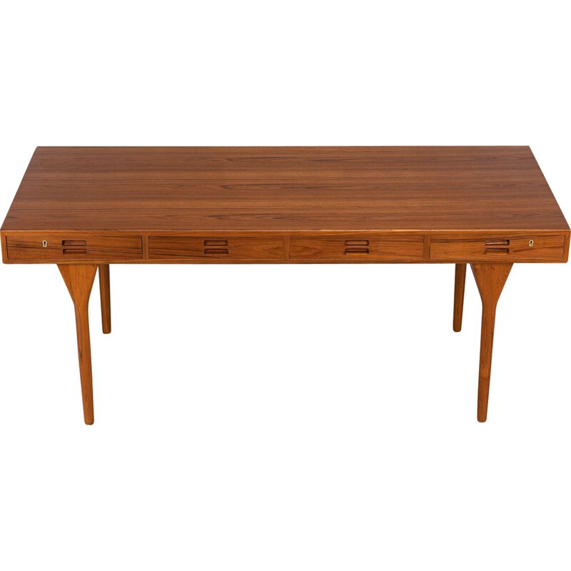 Midcentury Teak Classic 4 drawer Teak Desk by Nanna Ditzel for Soren Willadsen, 1960s