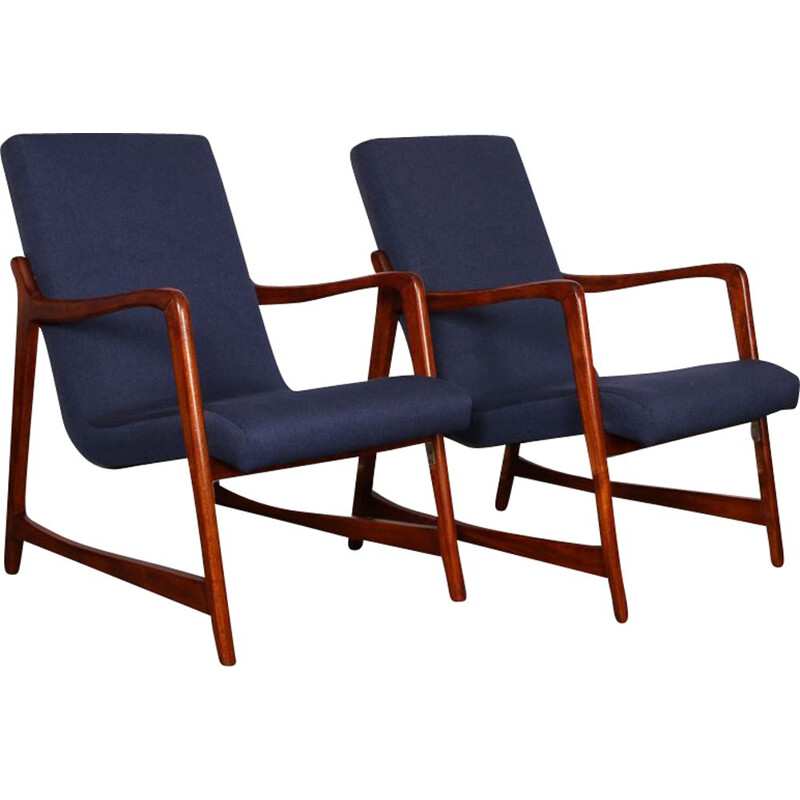 Pair of vintage armchairs by Barbara Fenrych, 1960