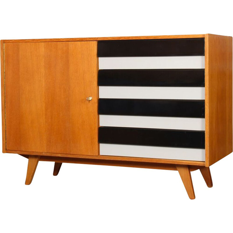 Vintage chest of drawers, model U-458, by Jiri Jiroutek, 1960