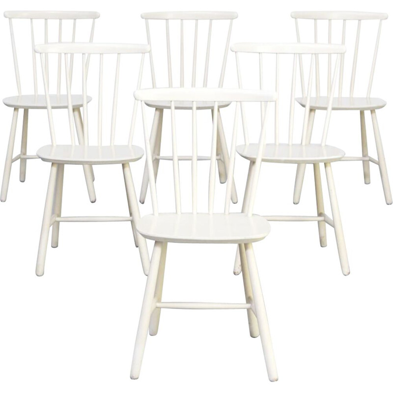 Set 6 Mid Century dining chairs for Farstrup Mobler