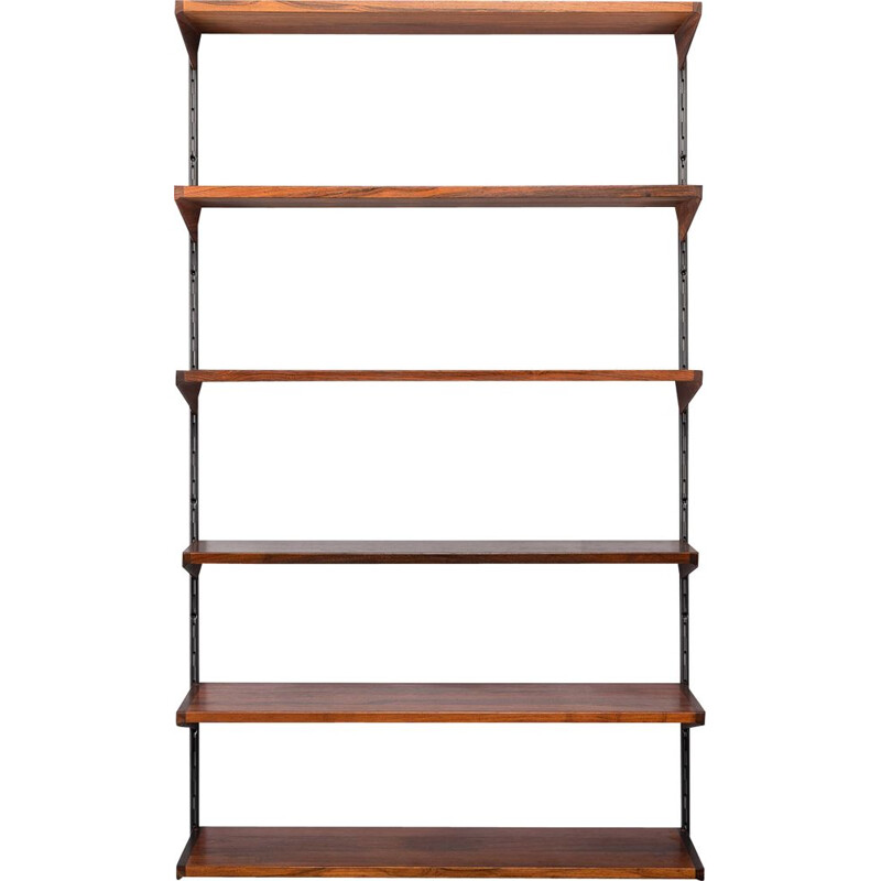 Vintage Racking Shelf Unit by Kai Kristiansen for FM Møbler, Rosewood 1960s