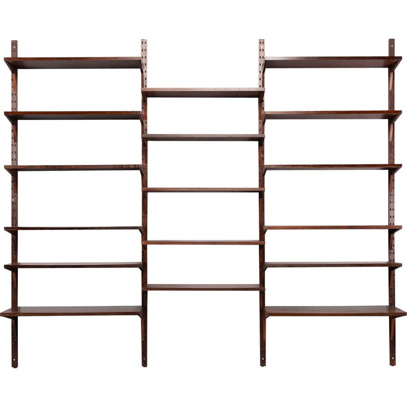 Mid-Century Wall Unit by Poul Cadovius or Royal Systems in Rosewood, 1950s