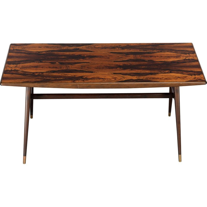 Mid-Century Coffee Table, Rosewood Danish 1970s