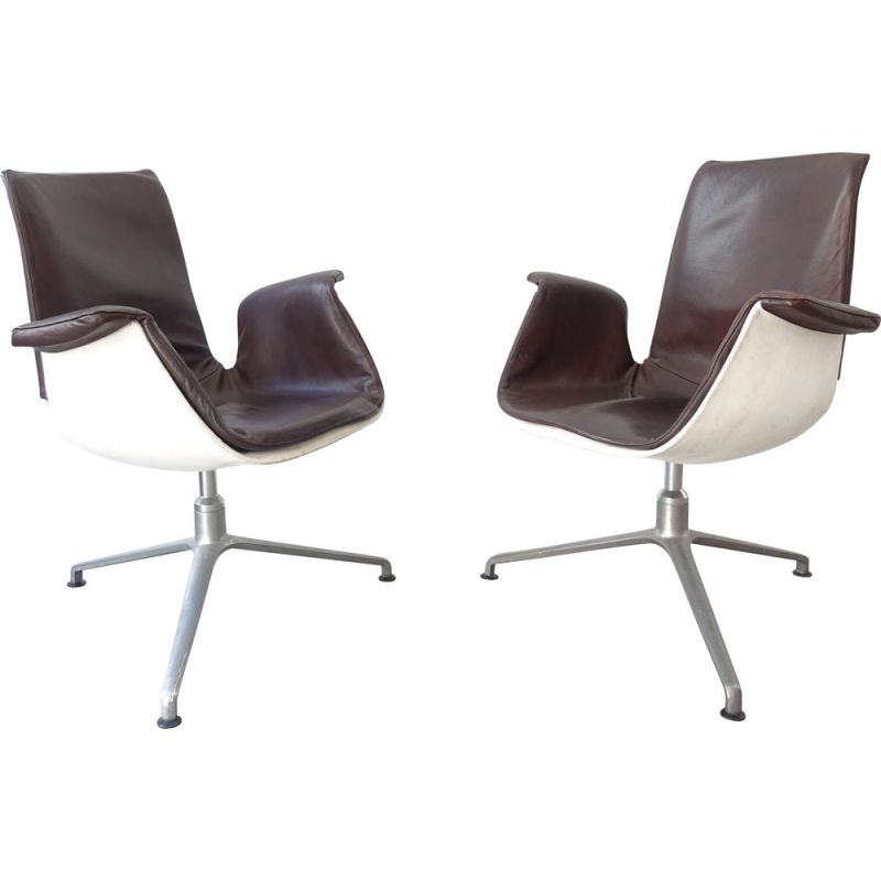 Mid-Century Pair of Armchairs by Preben Fabricius & Jørgen Kastholm for Kill International, 1960's