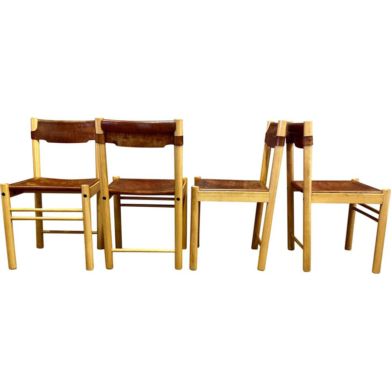 Set of 4 vintage Sede chairs for Ibisco 1960