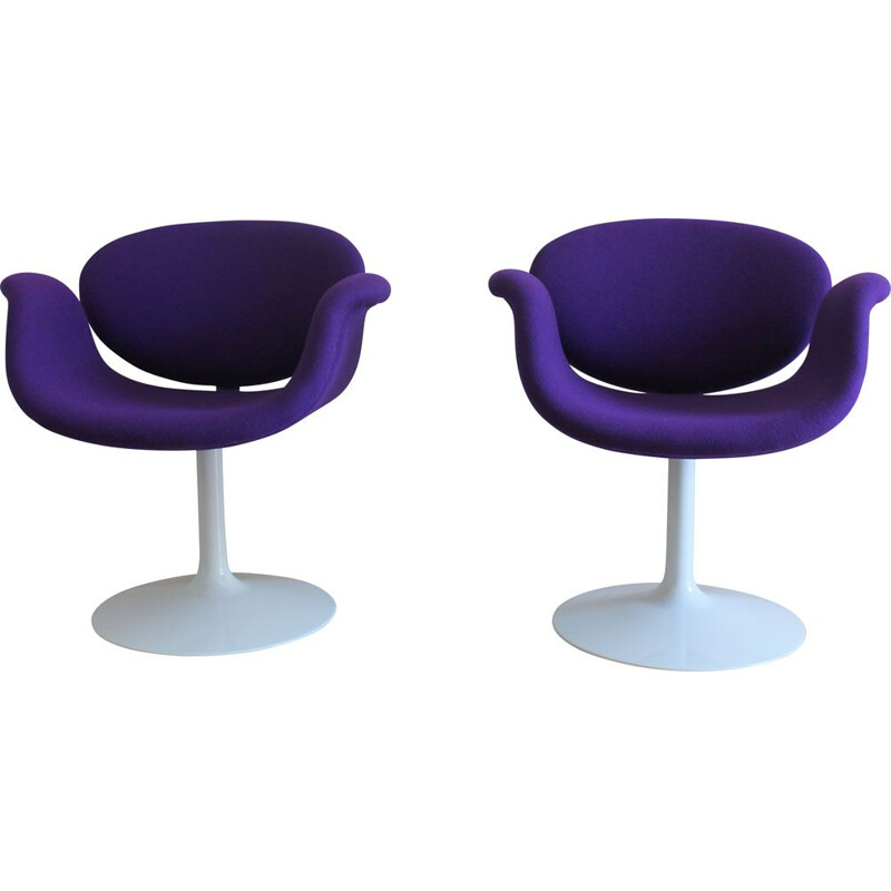 Pair of vintage Little Tulip chairs by Pierre Paulin 1960