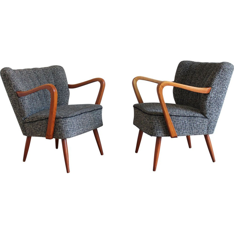 Pair of vintage armchairs Cocktail armchairs 1950