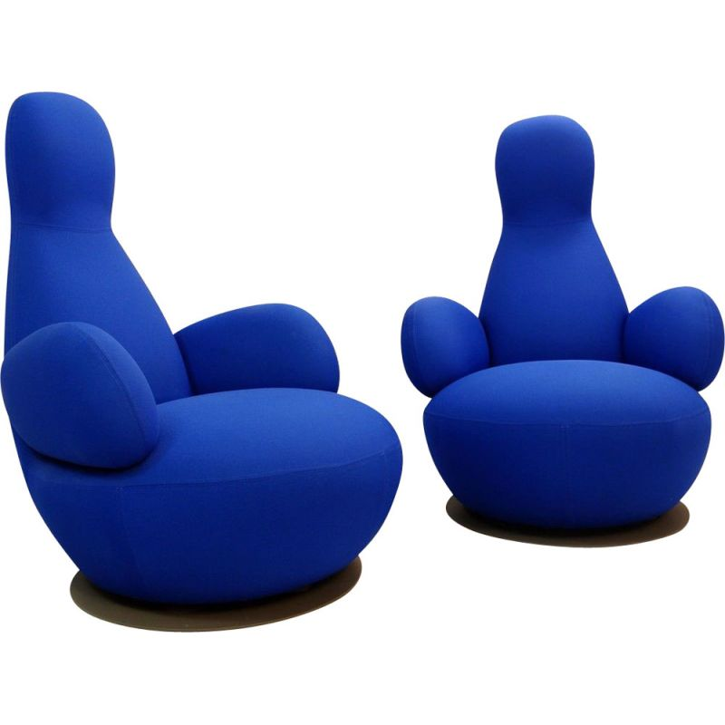 Pair of vintage swivel armchairs OPPO O50A by Stefan Borselius 2009