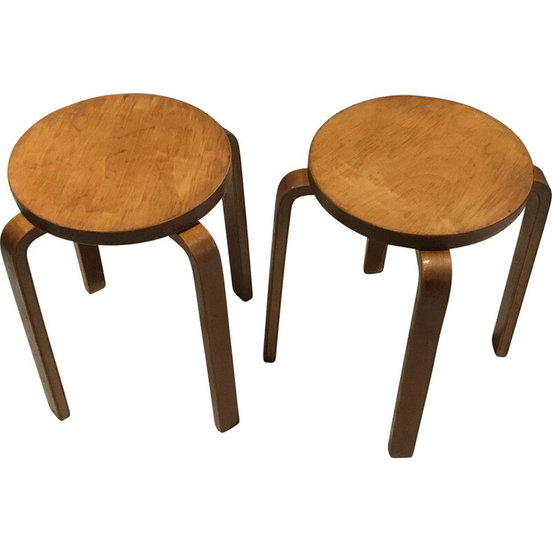 Pair of Mid-Century Stools by Alvar Aalto, 1960s