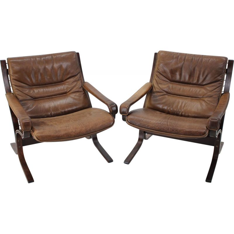 Pair Of Ingmar Relling Siesta Chairs for Westnofa, Norway 1970s