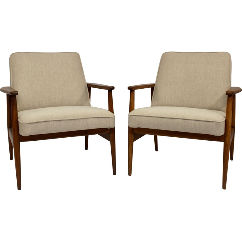 Pair of vintage armchairs by M. Zieliński 1960
