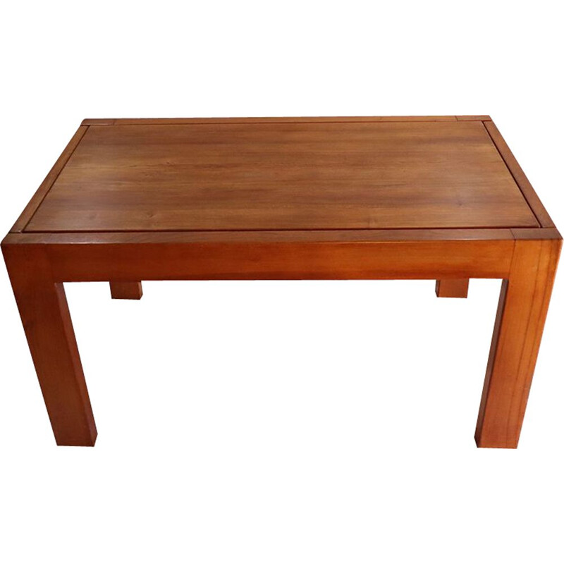 Vintage Maison Regain  Extending Table in solid elm 1970