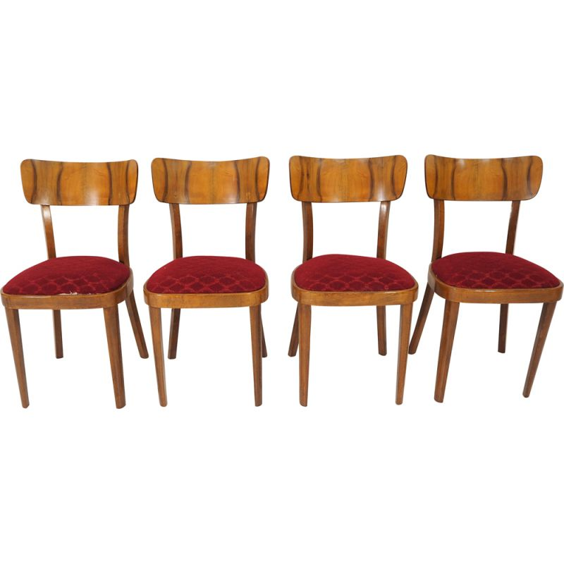 Set of 4 Vintage Art Deco Dining Chairs,  1960