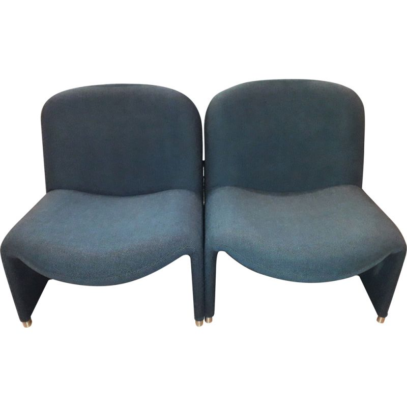 """Pair of vintage armchairs model """"Alky"""" by Giancarlo PIRETTI, by Castelli fin italy 1960 ."""