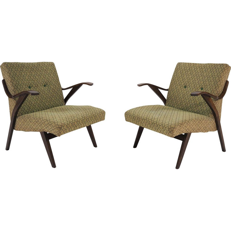 Pair of Vintage Armchairs, 1961