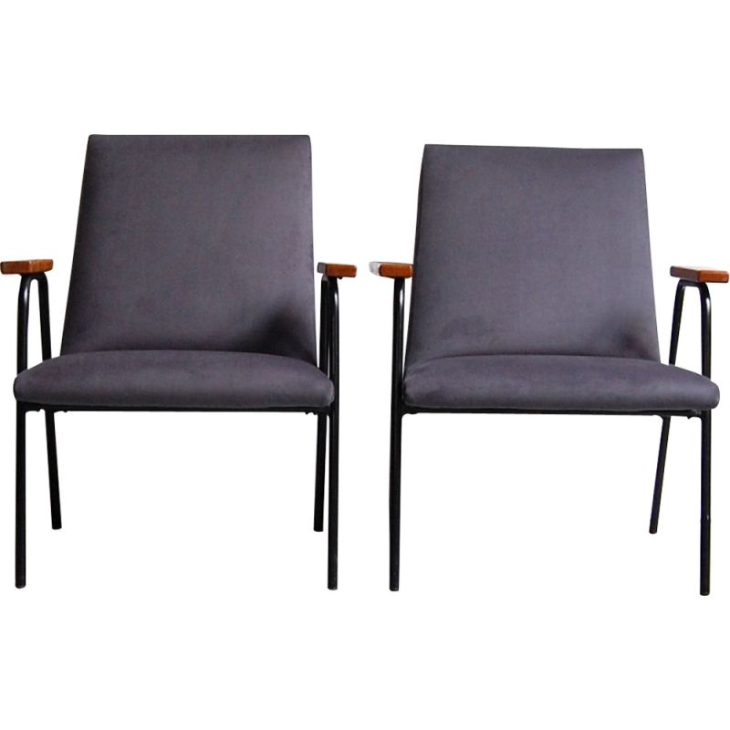 Pair of vintage armchairs Robert by Pierre Guariche for Meurop , 1962