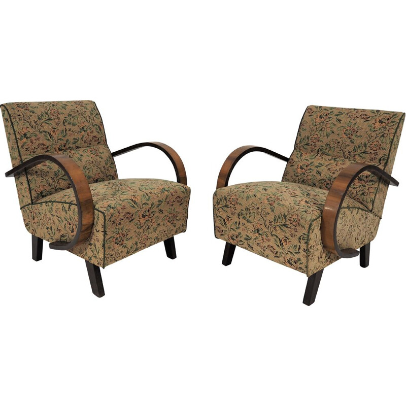 Pair of Vintage Armchairs Art Deco, 1950s