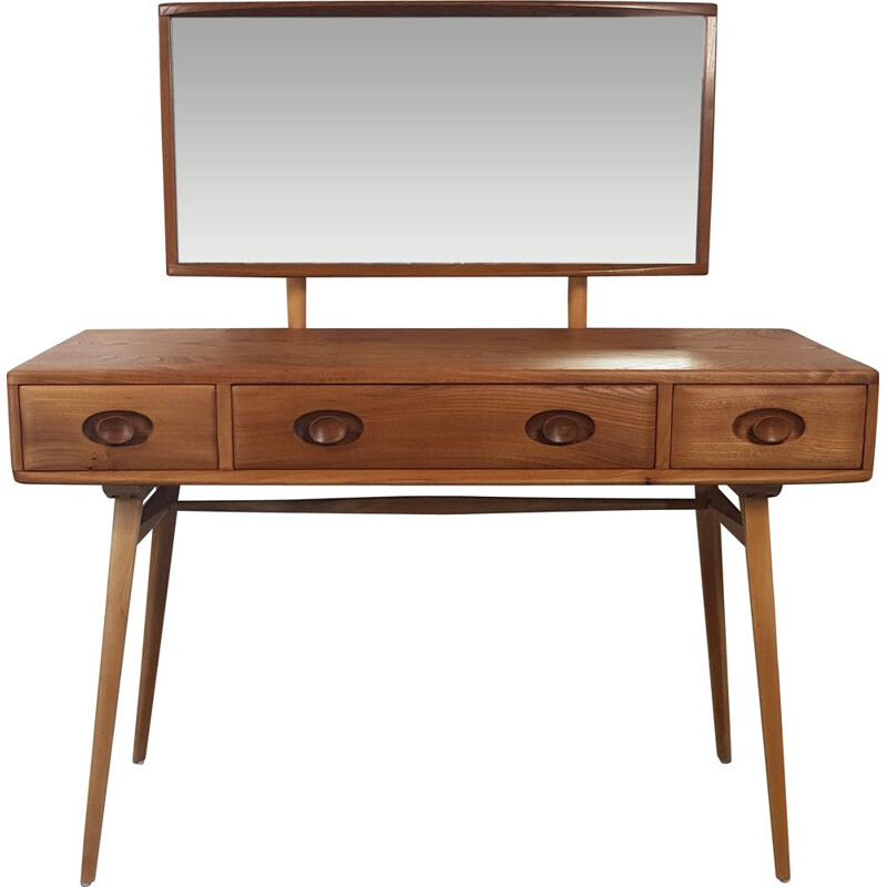 Vintage Ercol Dressing Table,Elm and Beech 1960s