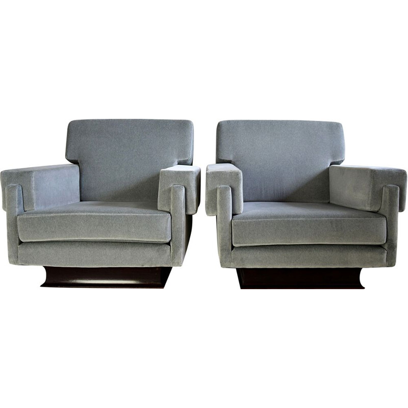 Pair of Mid-Century Modern Lounge Chairs Gorgeous Italian 1960s