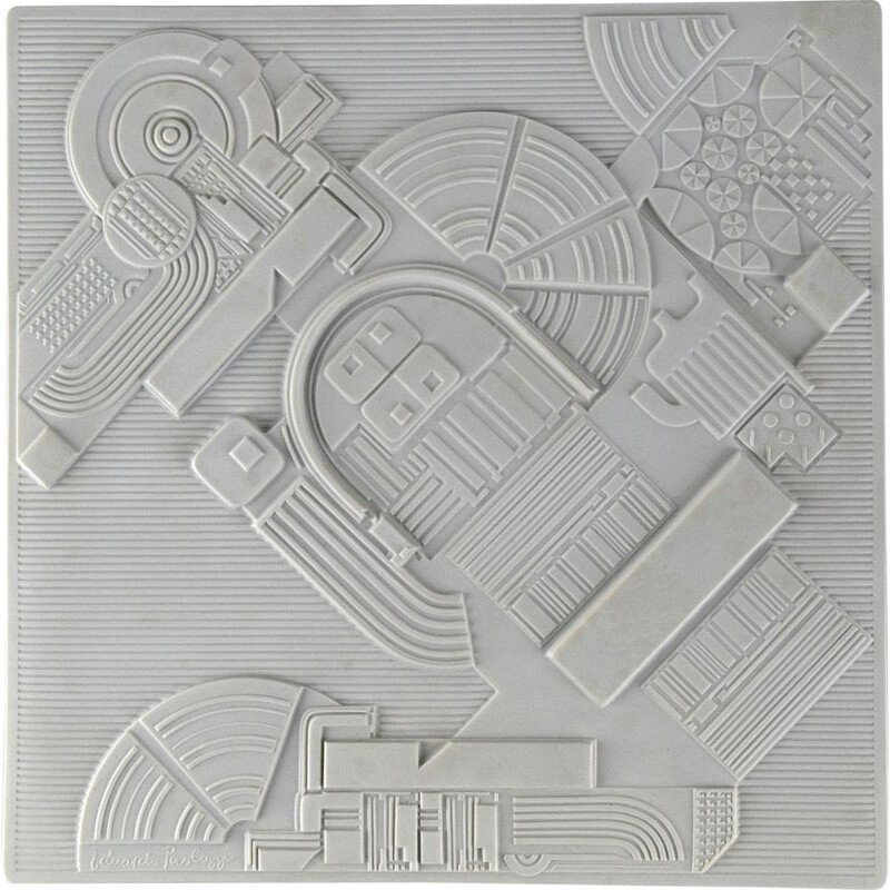 Vintage High Relief Porcelain Wall Sculpture by Eduardo Paolozzi for Rosenthal 1978