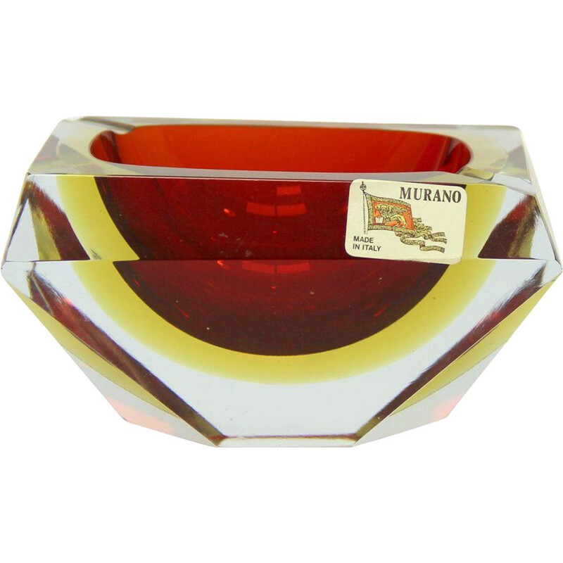 Vintage Murano Glass Ashtray by Alessandro Mandruzzato, 1960