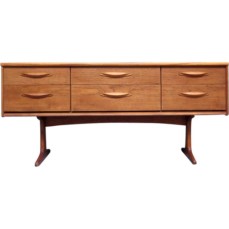 Vintage teak drawers sideboard, 1960