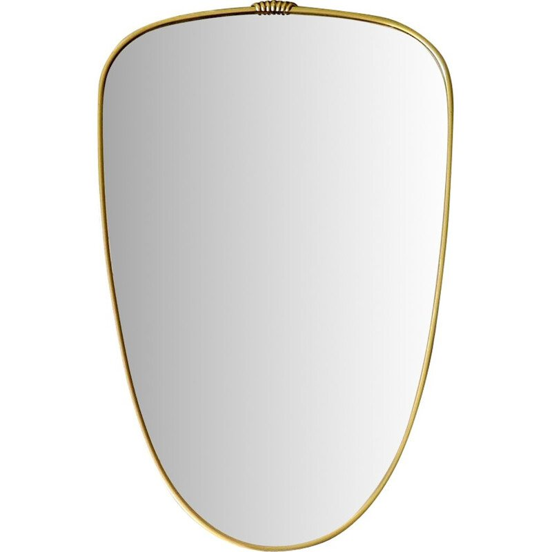 Vintage princess mirror with gold frame 1950