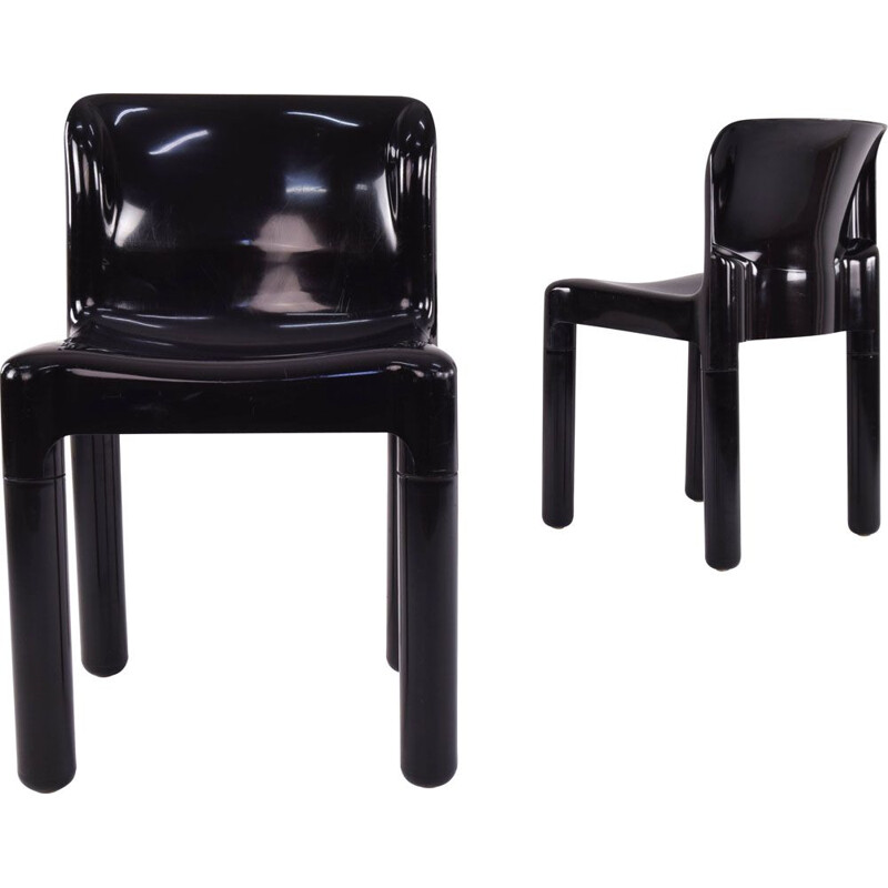 Pair of vintage chairs model 4875 by Carlo Bartoli for Kartell, Italy 1970