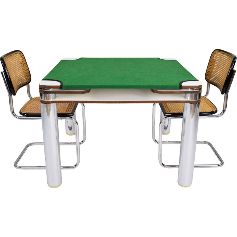 Mid Century Modern Joe Colombo Cart or Game Poker Table for Zanotta, Italy 1968