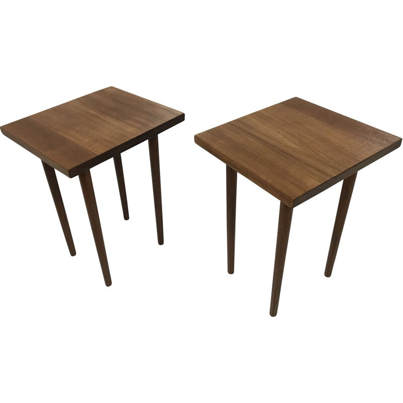 Pair of Vintage Teak Tables by Finn Juhl, France and Son, 1960