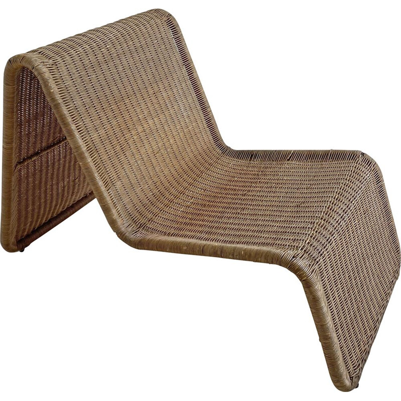 Vintage Rattan Easy Chair, Ikea 1960-70s