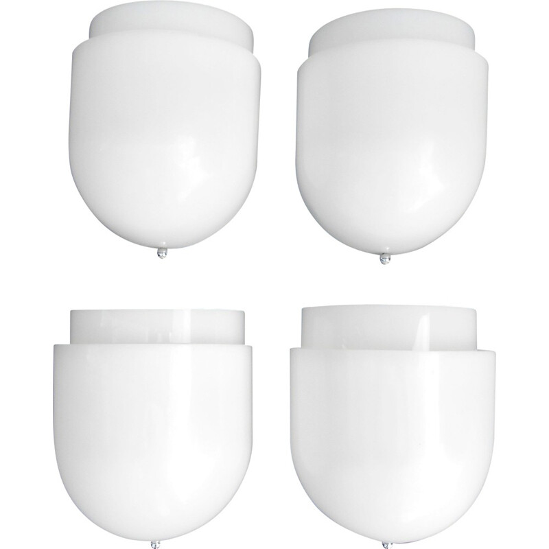 Set of 4 Candle wall lamps in acrylic, Sergio ASTI - 1960s