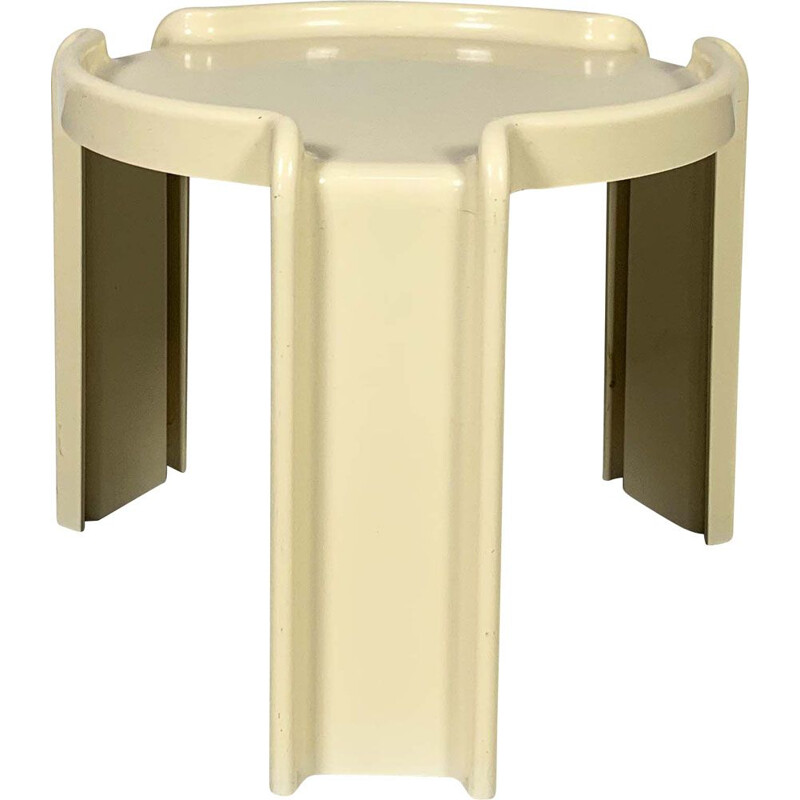 Vintage White Side Table by Giotto Stoppino for Kartell, 1970s