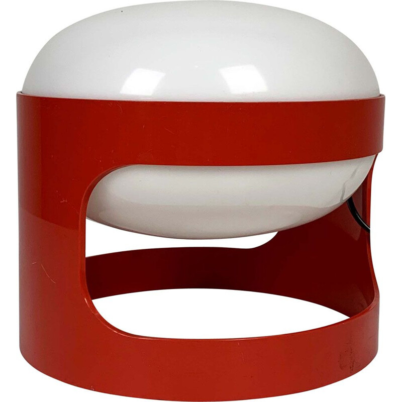 Vintage Red Model KD 27 Table Lamp by Joe Colombo for Kartell, 1970s