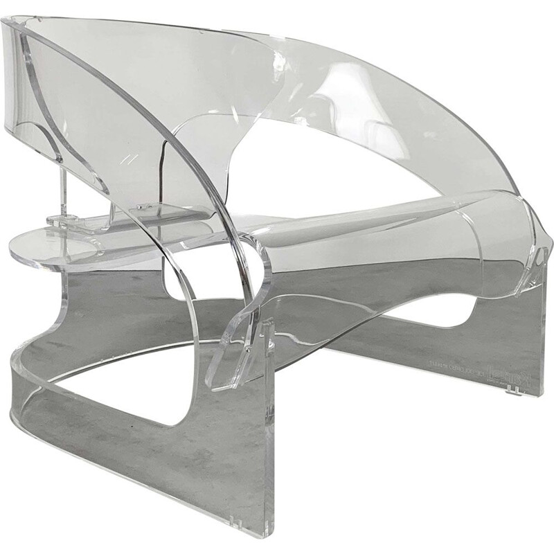 Vintage Model 4801 Armchair in Acrylic by Joe Colombo for Kartell, 2011