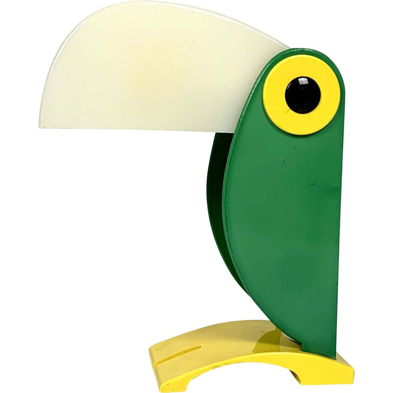 Vintage Table Lamp Green Toucan by Old Timer Ferrari, 1960s