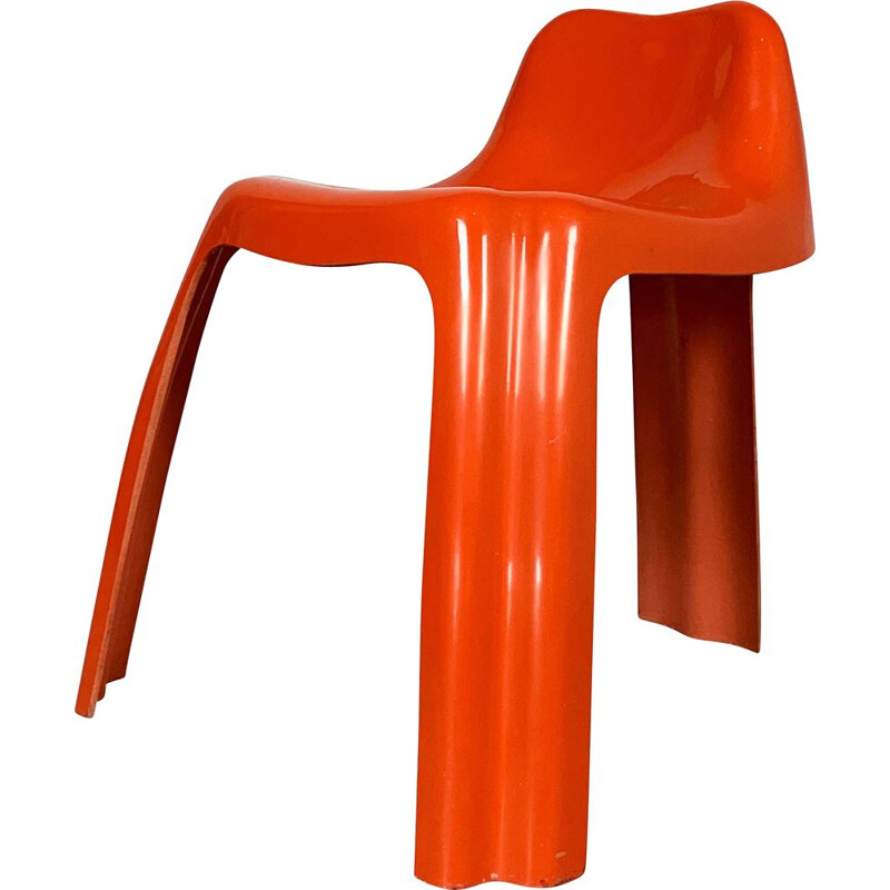 Vintage Chair Orange Ginger by Patrick Gingembre for Paulus, 1970s