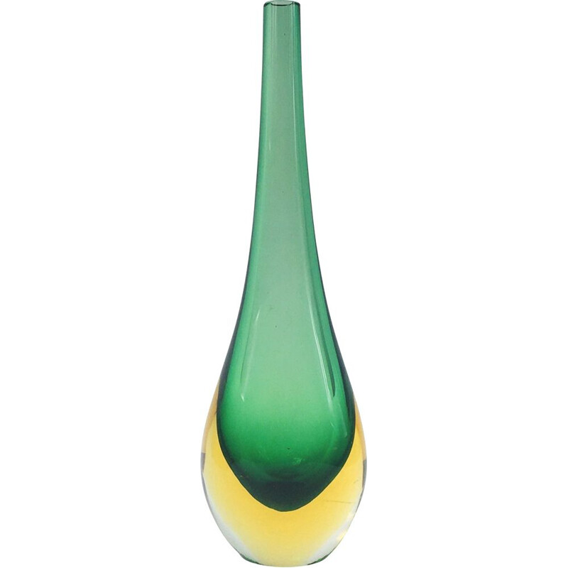 Vintage Vase Murano Glass  by Flavio Poli for Seguso, 1960s
