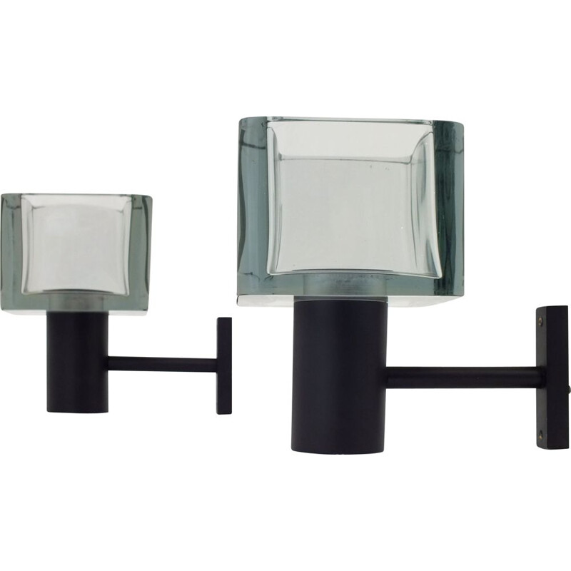 Pair of  wall lamp glass by Flavio Poli for Seguso Italy 1970