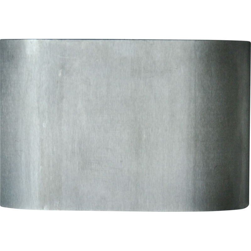 Vintage Brushed steel Wall Lamp, French 1950