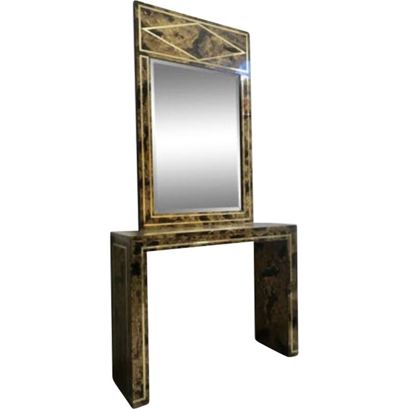 Mirror and console vintage neo classic Italy 1970